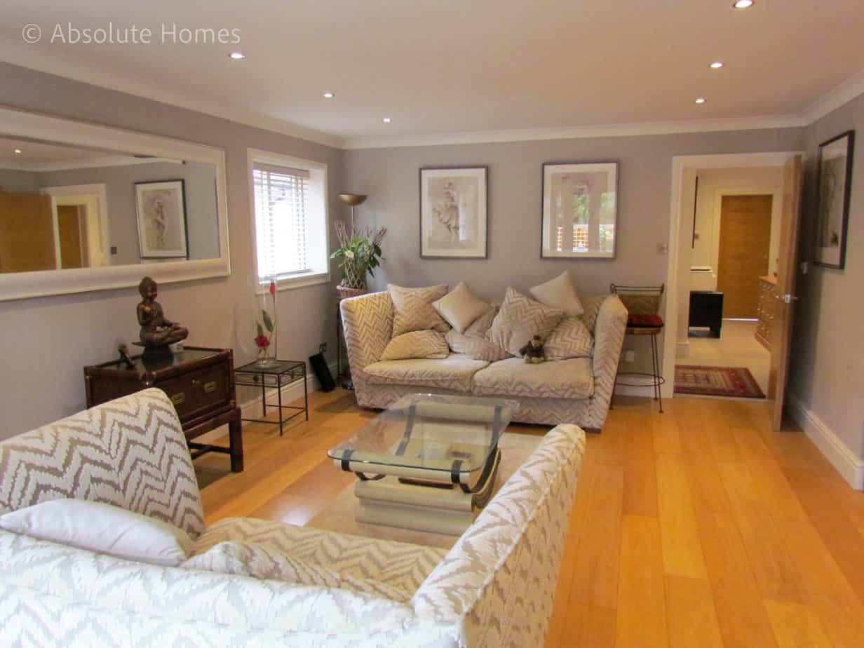 Hamilton Close, Teddington, TW11 9LA, lounge in